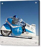 Brett De Stoop On His Suzuki Gt 750 At Speed Acrylic Print