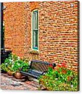 Brick Alley 3 Acrylic Print by Baywest Imaging