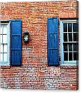 Brick And Shutters Acrylic Print