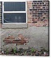 Brick Broken Plaster And Window Acrylic Print