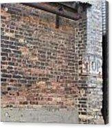 Brick Building Stop Acrylic Print
