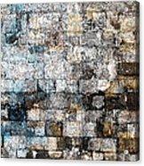 Brick Mosaic Acrylic Print by Stephanie Grant