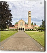 Brick Path To Mt Angel Abbey Church Entrance Acrylic Print