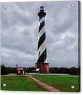 Brick Pathway To The Lighthouse Acrylic Print