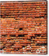 Brick Scarp Walls And Casement Gallery Acrylic Print