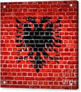 Brick Wall Albania Acrylic Print