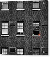 Brick Wall And Windows Acrylic Print