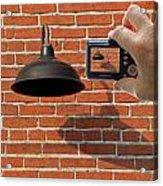Brick Wall Snap Shot Acrylic Print