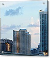 Brickell Key And Miami Skyline Acrylic Print