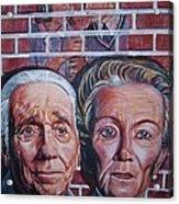 Brickwall Acrylic Print by Linda Vaughon