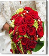 Bridal Bouquet With Red Roses Acrylic Print