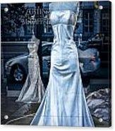 Bridal Dress Window Display In Ottawa Ontario Acrylic Print