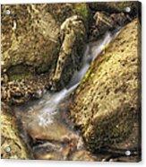 Bridal Veil Stream And Mossy Rocks - Heber Springs Arkansas Acrylic Print