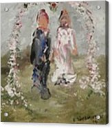 Bride And Groom Acrylic Print