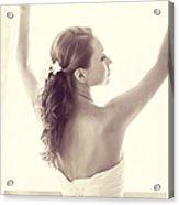 Bride At The Window Acrylic Print
