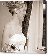 Bride Awaits Her Groom Acrylic Print