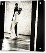 Bride. Black And White Acrylic Print