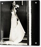 Bride I. Black And White Acrylic Print