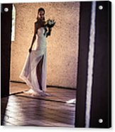 Bride. In Color Acrylic Print by Jenny Rainbow