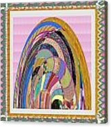 Bride In Layers Of Veils Accidental Discovery From Graphic Abstracts Made From Crystal Healing Stone Acrylic Print