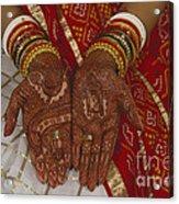 Brides Hands India Acrylic Print