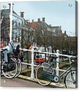 Bridge Across Canal - Amsterdam Acrylic Print