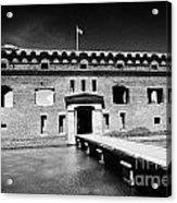 Bridge Across The Moat Sally Port Entrance To Fort Jefferson Dry Tortugas National Park Florida Keys Acrylic Print