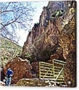 Bridge Across The Whitewater River On Whitewater Catwalk National Recreation Trail Near Glenwood-new Acrylic Print