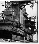 Bridge And Flight Deck Island On The Uss Intrepid New York Acrylic Print