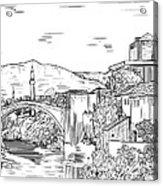 Bridge At Morstar Acrylic Print