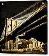 Bridge At Night Acrylic Print