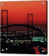 Bridge At Sunset Acrylic Print