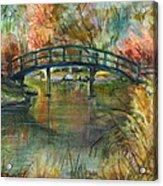 Bridge At The Botanical Gardens Acrylic Print