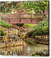 Bridge At Shelton Vineyards Acrylic Print