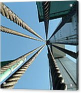 Bridge Cables Acrylic Print by Kenneth Summers