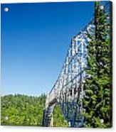 Bridge Connecting Oregon And Washington Acrylic Print