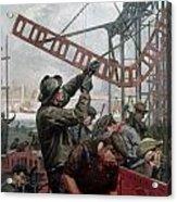 Bridge Construction 1909 Acrylic Print