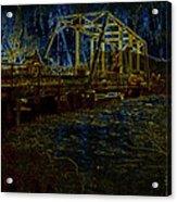 Bridge Crossing C. 1885 Glowing Edges Acrylic Print