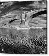 Bridge Curvature In Black And White Acrylic Print