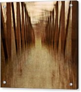 Bridge In Abstract Acrylic Print