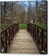 Bridge In Deep River County Park Northwest Indiana Acrylic Print