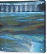 Bridge In Flood Stage Acrylic Print