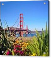 Bridge In Spring Acrylic Print