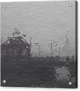 Bridge In The Fog Acrylic Print