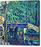 Bridge In The Forest By Cezanne Acrylic Print