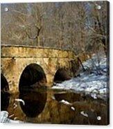 Bridge In Woods Acrylic Print