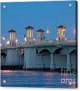 Bridge Of Lions At Dusk St Augustine Florida Acrylic Print