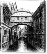 Bridge Of Sighs Pencil Acrylic Print