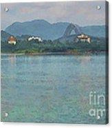 Bridge Of The Americas From Casco Viejo - Panama Acrylic Print