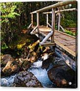 Bridge Over A Mountain Stream Acrylic Print